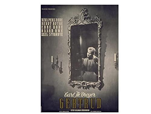 El vampiro Carl Theodor Dreyer película pared arte lienzo pintura cartel imagen sala de estar decoración del hogar regalo-60x80 cm sin marco