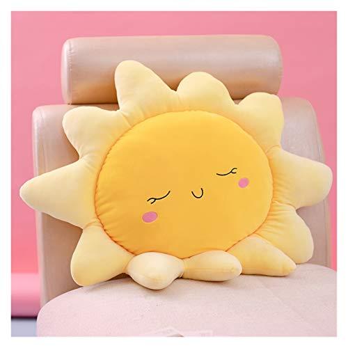 45-70 cm Lindo Sun Peluche Juguete Super Soft Relleno Almohada Cómodo Cojín de Cojín Toys Home Sofá Decoración Niños Regalo de cumpleaños Juguetes de peluche ( Color : Yellow , Height : 60cm )