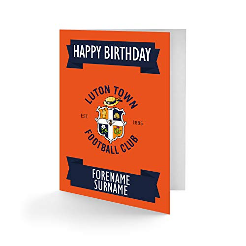 Official Personalised Luton Town FC Crest Birthday Card