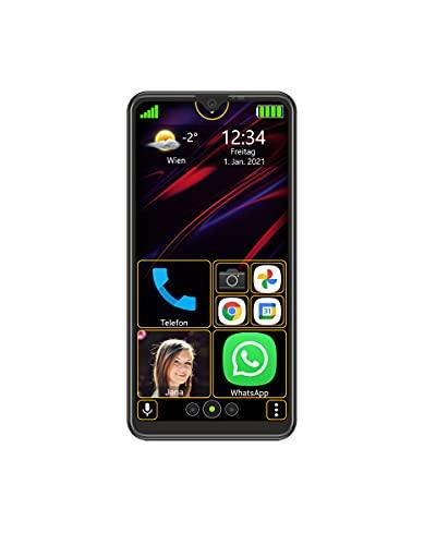 Beafon M6s - Smartphone, schwarz | Einfach und Sicher | Dieses Smartphone vereinfacht Ihnen alle Bedienungen und gibt Ihnen Sicherheit durch besondere Notruffunktionen