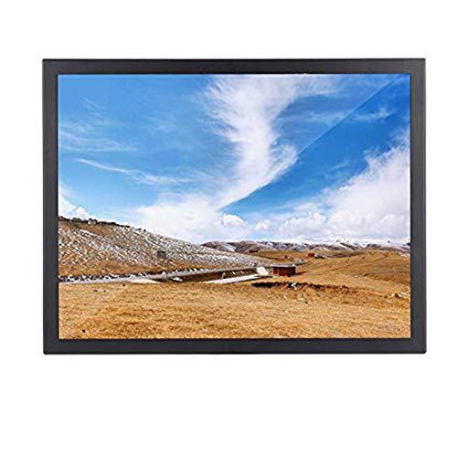 gostcai Monitor da 15 Pollici, Display 4: 3 1024 x 768 Full HD, Schermo TFT, Supporta VGA/HDMI/AV/BNC per PC/TV/CCTV/Fotocamera/Sicurezza/Computer(Nero)