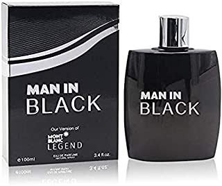 Man In Black Perfume for Men, EDP-3.4 oz, with a NovoGlow Pouch Included, Perfect Gift