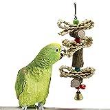 XIAOHUAHUA Juguete para Masticar pájaros, Juguete para Loros, Resistente a Las mordeduras, para pájaros, Juguete para desgarrar, cacatúas, Periquito, Juguete de Entrenamiento, Accesorios para pájaros