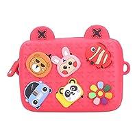 子供用メッセンジャーバッグ、快適な肌にやさしい汚れに強い耐久性のある子供用バッグ、収納ギフト用子供用子供用(red)