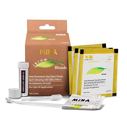 MINA ibrow Henna Blonde Regular Pack for Spot Coloring