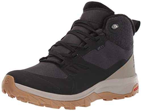 Salomon Damen Shoes Outsnap CSWP Stiefeletten, Schwarz (Black/Vintage Kaki/Gum1a 000), 41 1/3 EU