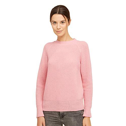 BRUNELLA GORI Pullover Frau runder Halsausschnitt Sweater, Jumper, Guernsey 100% Lambswool Farbe PINK Größe L