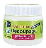 Kreul 48251 - Art Potch Decoupage Kleber und Lack seidenmatt, 150 ml, auf Wasserbasis, trocknet...