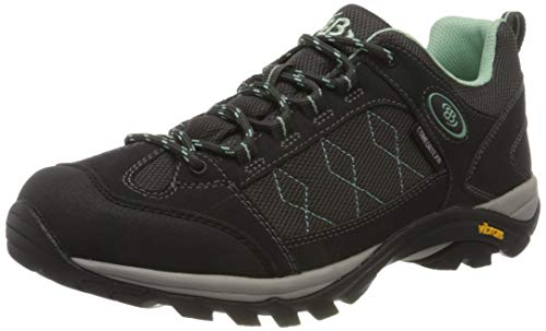Brütting Mount Cook Low Damen Outdoor- & Trekkingschuh, Anthrazit/ Mintgrün, 39 EU