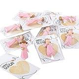 Logbuch-Verlag 10 kleine Schutzengel rosa pink mit Dankeschön Karte - Engel Gastgeschenk zu Kindergeburtstag Taufe Kommunion Mädchen
