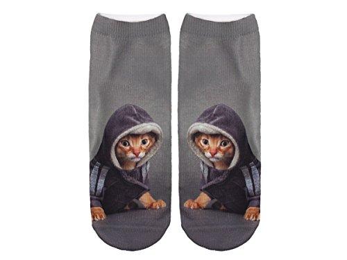 Unbekannt Socken bunt mit lustigen Motiven Print Socken Motivsocken Damen Herren ALSINO, Variante wählen:SO-L094 Katze Pulli