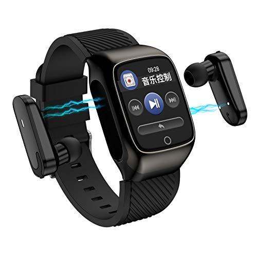 GUOJIAYI Pulsera Deportiva Bluetooth Auricular 2 en 1 Smart Watch