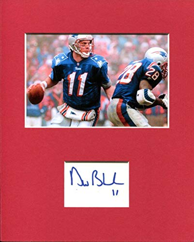 Drew Bledsoe Washington State Cougars New England Patriots Signed Photo Display - NFL Cut Signatures