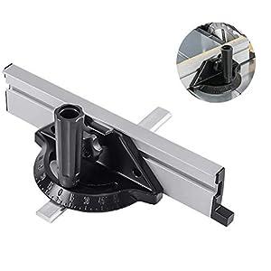 Accesorio para sistema de valla de calibre de ingletes, herramientas de carpintería bloque de empuje con regla de placa angular para sierra de mesa, sierra de cinta, mesa de enrutador, ensambladores