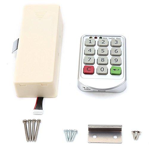 Sistema de Control de Acceso, Kit Cerradura Teclado, Cerradura electrónica para Gabinete, Caja