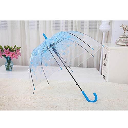 Lanema Romantic Clear Bubble Umbrella Flowers Durable Wind-Resistant Stick Umbrella Dome Shape