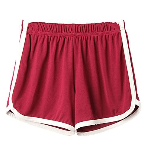 N\P Pantalones cortos deportivos de las señoras de verano casual pantalones cortos de las mujeres acogedoras cintura