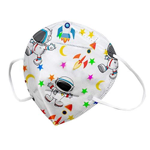 10/20/30/50 Stück Kinder Bunt Schutz mit 3D Cartoon Druck_5-lagige_𝓶𝓪𝓼𝓴e, Atmungsaktiv, Bandana für Junge und Mädchen