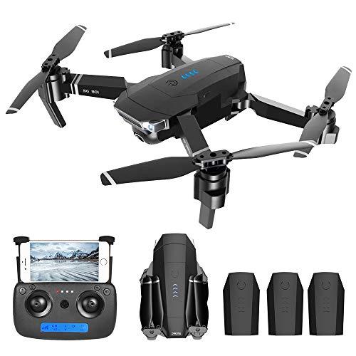 IKAYAAA SG901 4K Drone con Posizionamento Ottico del Flusso della Fotocamera Interfaccia MV Seguimi Foto dei gesti Video RC Quadcopter 3 batterie