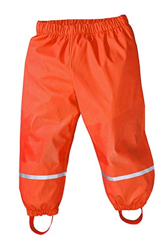 Axoe Axoe Kinder Regenhosen Winter Hosen mit Fleecefutter Buddelhose Matschose, Orange, 86/92 cm