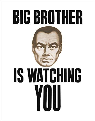 Culturenik Big Brother Watching You Ninteen Eighty Four (1984) Film Movie Political Statement (Propaganda, Motivational) Poster Print 11x14