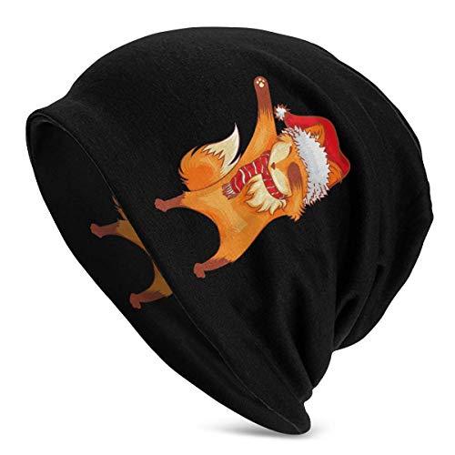 Dabbing Fox Kerstmuts Beanie Men Women Lichtgewicht Casual Ski Slouchy Hat