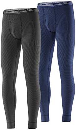 DAVID ARCHY Men s Cotton Fleece Lined Shu Velveteen Stripe Ultra Soft Winter Warm Thermal Bottom product image