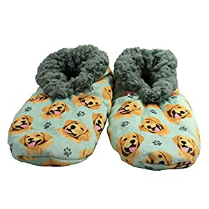Golden Retriever Super Soft Women's Slippers - One Size Fits Most - Cozy House Slippers - Non Skid Bottom - Perfect for Golden Retriever Gifts