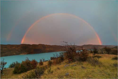 Posterlounge Cuadro de metacrilato 90 x 60 cm: Rainbow Over The Rio Paine, Patagonia de Circumnavigation