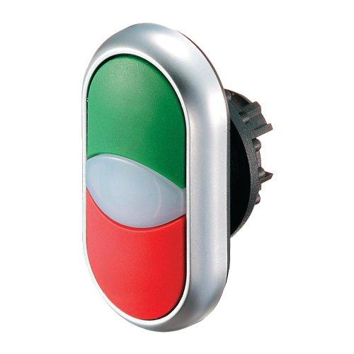 Eaton 216706 Doppeldrucktaste, Leuchtmelder, I/weiß/schwarz 0