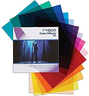 """Rosco Color Effects Filter Kit, 12 x 12"""" Sheets"""