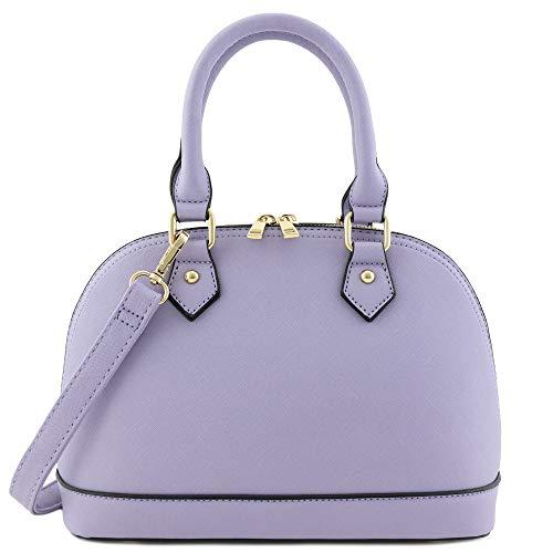 Zip-Around Classic Dome Satchel (Lavender)