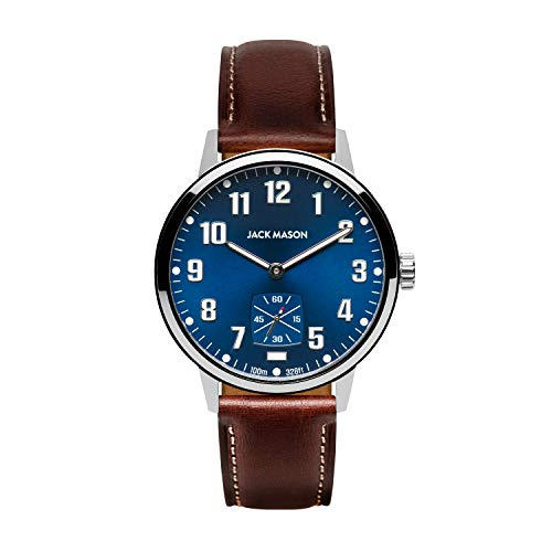 Jack Mason Field 3-Hand Stainless Steel Navy...