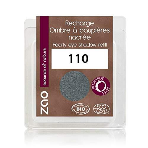 ZAO REFILL Pearly Eyeshadow 110 grau metallic Lidschatten-Nachfüller schimmernd / Perlglanz (bio,...