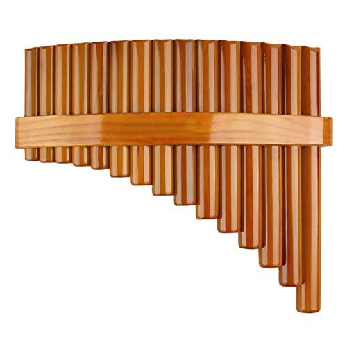 DAXINYANG 15 Tubos De Flauta C Clave Pan Pipes Instrumento De Viento De Madera De Bambú Pan Flauta Instrumento Musical Chino Tradicional,Right