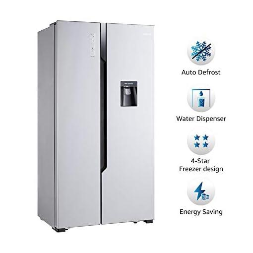 AmazonBasics 564 L Side-by-Side Door Refrigerator