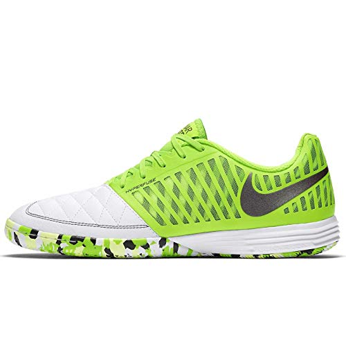 Nike Lunar Gato II IC, Botas de Fútbol Hombre, Multicolor (White/Anthracite/Electric Green 137), 41 EU