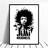 Eryan Jimi Hendrix poster famoso cantante Rock Music Legends Vintage Fotografía Blanco y negro Pósteres Pintura de arte de pared A1128 (50X70CM) Sin Farme