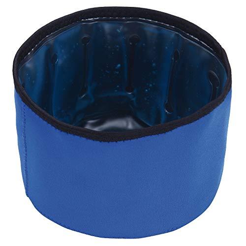 Croci Ciotola Fresh Pieghevole 1300 Ml, Congelabile per Tenere Acqua e Cibo al Fresco Anche Durante i Viaggi, 17X11 Cm
