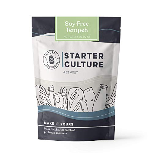 Cultures for Health Soy-Free Tempeh Starter Culture   Healthy Meat Alternative, Soy Alternative   DIY, Vegetarian, Cultured Protein   No Maintenance, Non-GMO, Gluten Free
