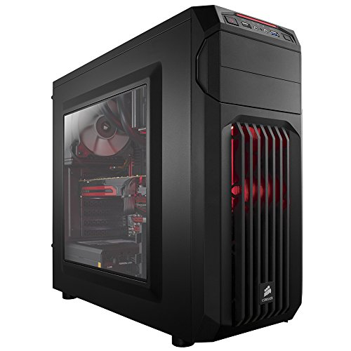 Corsair Carbide SPEC-01 Case da Gaming, Mid-Tower ATX, Finestra Laterale, Nero avec LED Rosso