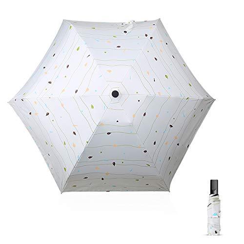 DORRISO Vogue Plegable Paraguas Mujer Mini Paraguas y Sombrillas Antviento Impermeable Ligero...