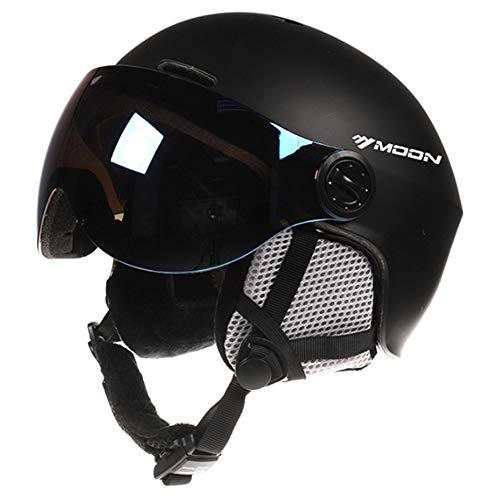 Skihelm voor volwassenen, met inschuifbare bril, winddicht, voor winter, snowboarden, skihelm, unisex