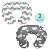 Stretchy Nursing Pillow Covers-2 Pack Nursing Pillow Slipcovers for...