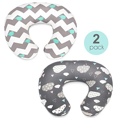 Best Review Of Stretchy Nursing Pillow Covers-2 Pack Nursing Pillow Slipcovers for Breastfeeding Mom...