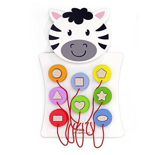 VIGA 50681 Toys-Wandspiel-Zebra, Multi Color