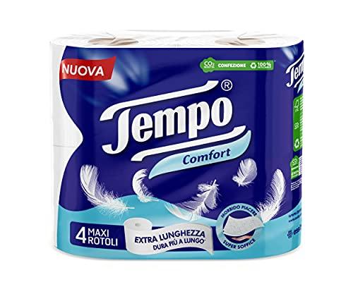 Tempo Carta Igienica Comfort, Morbida e Resistente - 4...