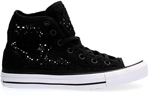 CONVERSE - Schuhe von Converse All Star Hallo Crochet tall schwarz mit gesticktem Stoff 549308C - 549308C - 35, Nero