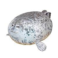 AIXINI シール アザラシ抱き枕80cm 添い寝クッション もっちりビッグ ぬいぐるみ ぽっちゃりふわふわ 抱きしめ睡眠スロー枕 子供誕生日プレゼント