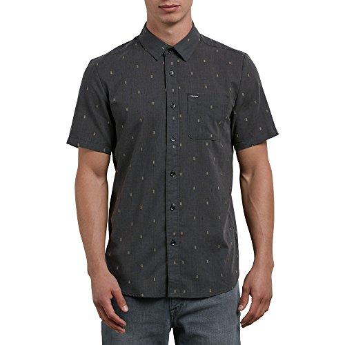 Volcom Herren Gladstone Short Sleeve Up Shirt Button Down Hemd, schwarz, Klein